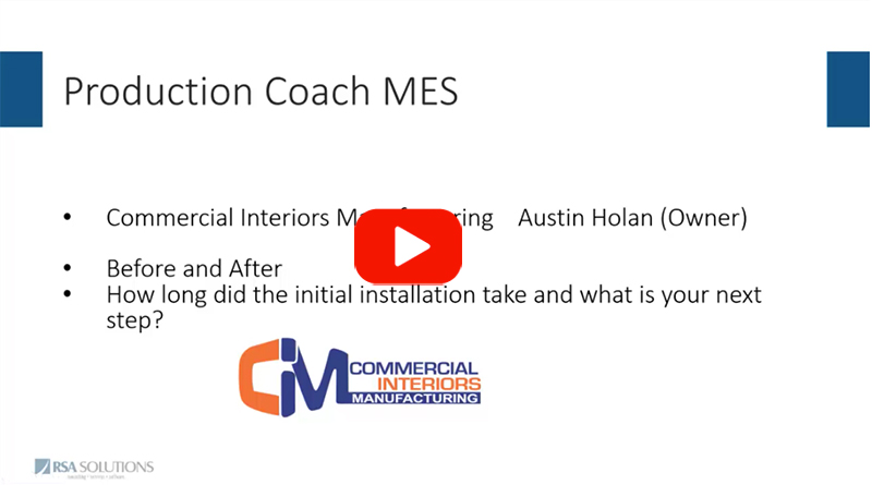 CIM's Move to MES - Excerpt From Webcast