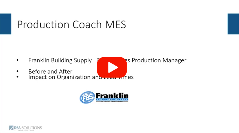 Franklin Building Supply  Move to MES - Excerpt From Webcast