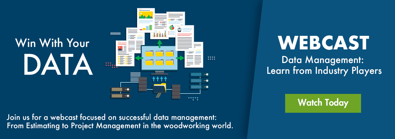 Data Management: Estimating to Project Management in the woodworking world