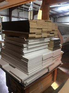 Example Lutz Woodworks Before Production Coach Parts Stacks