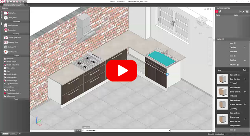 create a kitchen with woodwob