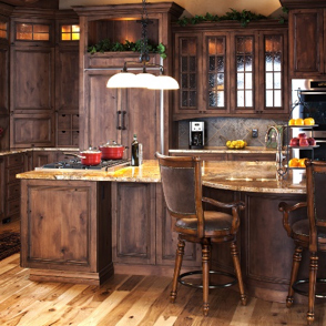 homestead cabinet and furniture finished kitchen dark wood