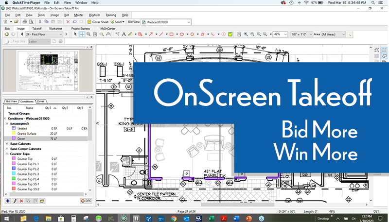 OnScreen Takeoff - Webcast Bid More - Win More