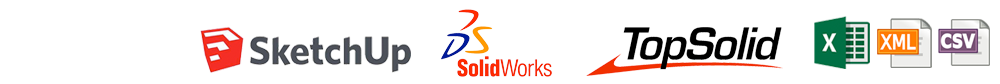 import from engineering software planit sketchup solidworks top solid xml excel csv