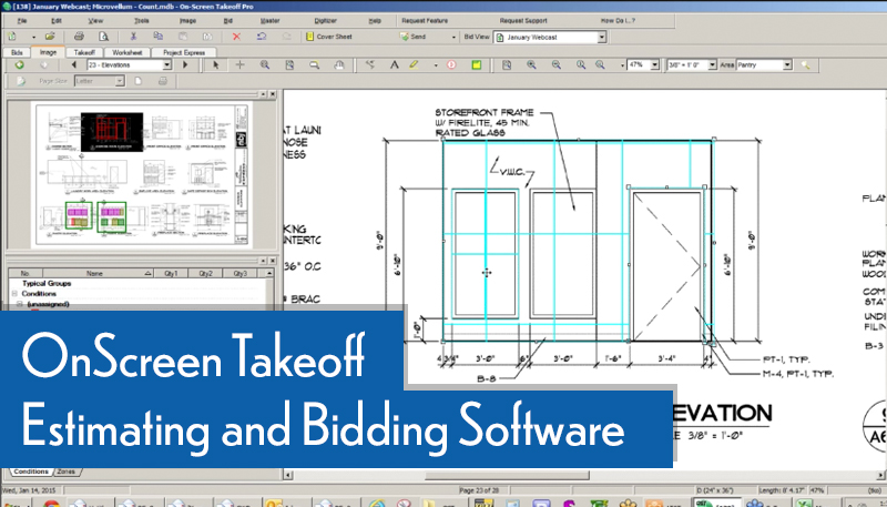 webcast onscreen takeoff estimating bidding software