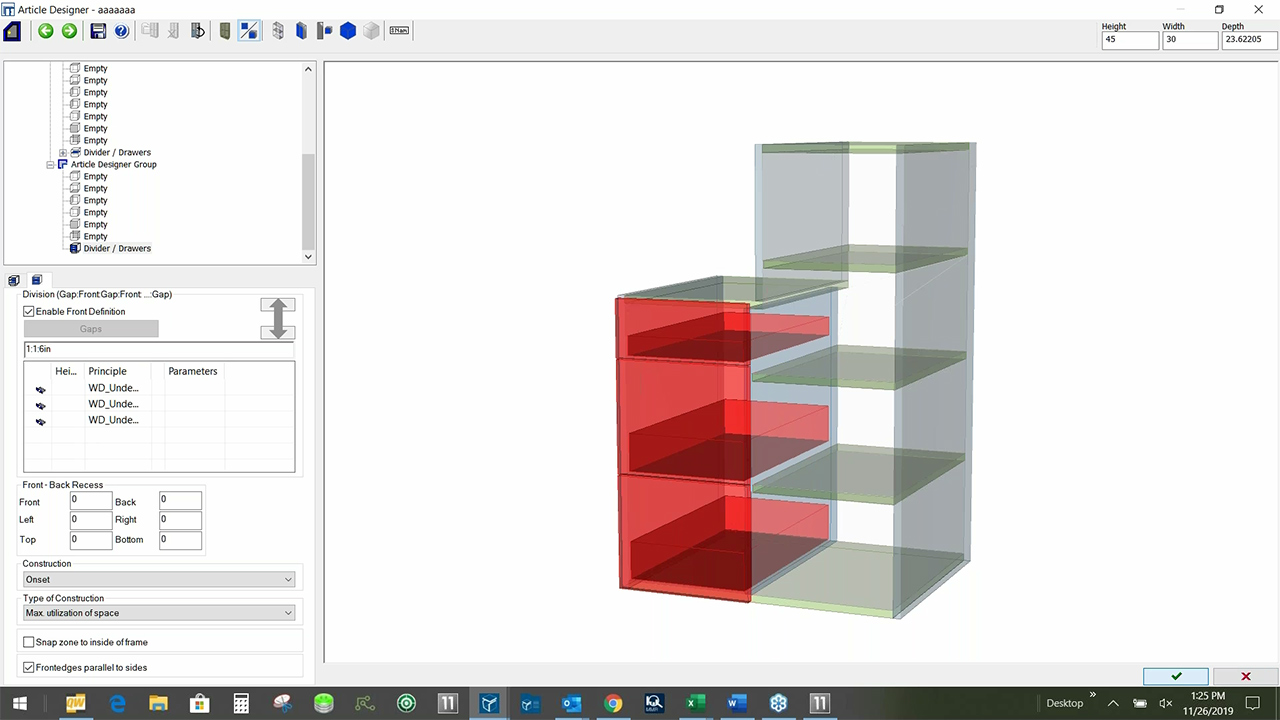 woodCAD|CAM Interface - Article Designer Bookcase