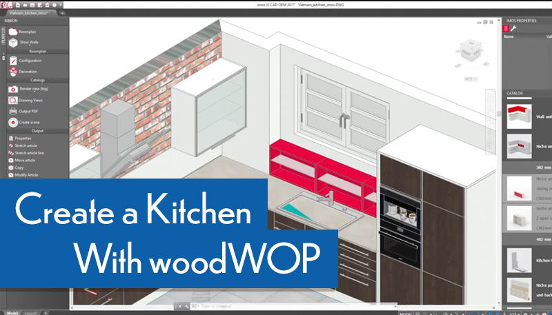 create a kitchen with woodwop