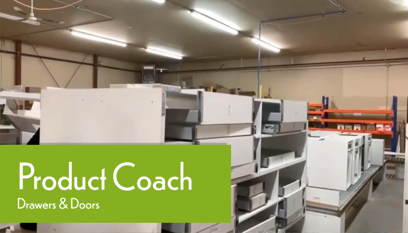 Production Coach Factory Tour Tracking Installing Doors and Drawers